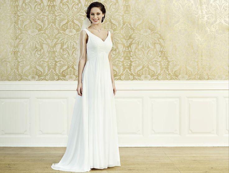 83420178188e Elegante brudekjole med stropper
