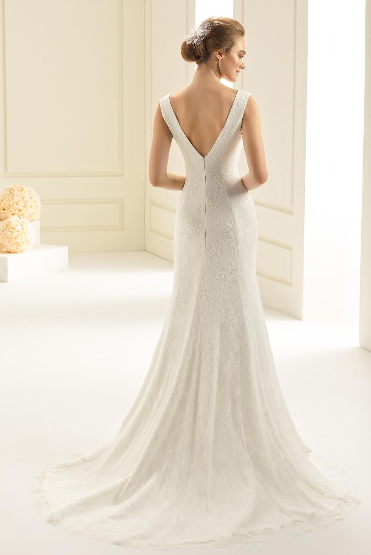 Elena blonde 2020 brudekjole med stropper