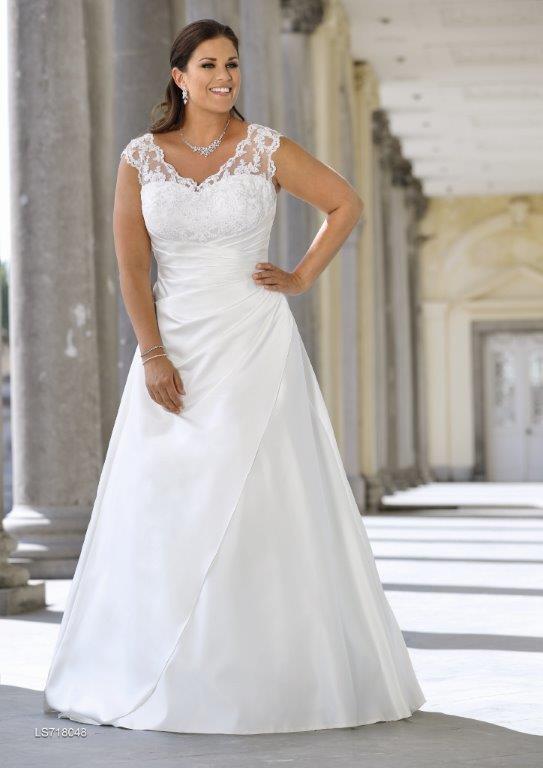 8ad5874582f Ladybird brudekjolen store størrelser