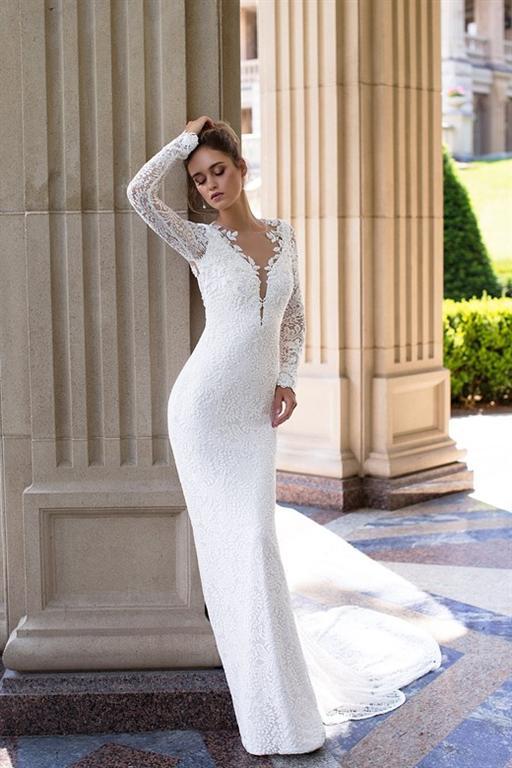 brudekjole med åben ryg
